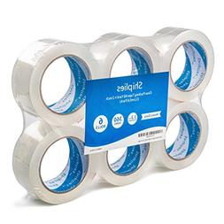 """Shiplies Clear Packing Tape1.88"""" x 60 Yards per Roll  Strong"""