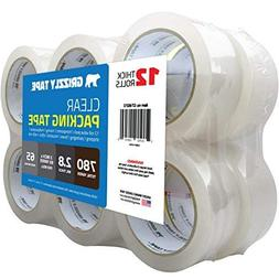Grizzly Brand Clear Packing Tape Refill Rolls for Shipping,