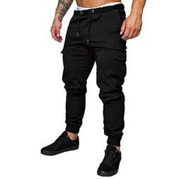 Clearance❤️Mens Pants, NEARTIME Fashion Men Solid Color