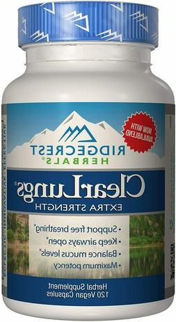 RidgeCrest Herbals ClearLungs Extra Strength - 120 Vegetaria
