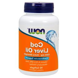NOW Cod Liver Oil 1000 mg, 90 Softgels
