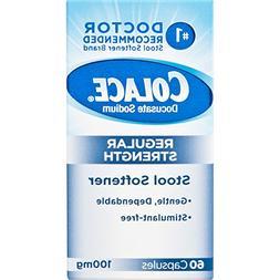 Colace Regular Strength Stool Softener 100 mg Capsules 60 Co
