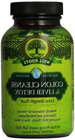 Well Roots Colon Cleanse and Liver Detox Supplement, 60 Coun