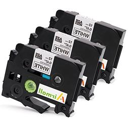 3-Pack Replacment Brother TZe Extra Strength P-touch Label T