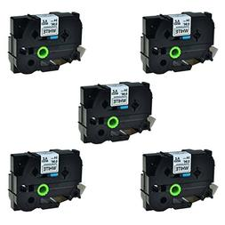 SuperInk 5 Pack Compatible Brother P-touch Label Tape Replac