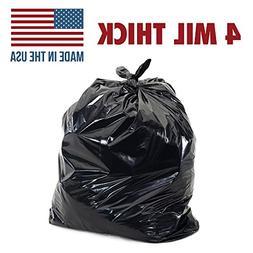 55 Gallon 4mil Contractor Toughest Most Durable Trash Bags,