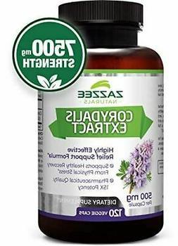 Corydalis Extract 500 mg 120 Veggie Caps 15:1 Extract Extra
