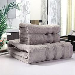 LKEJDNJ 20% Cotton + 80% Bamboo Fiber Towel Set Men Absorben