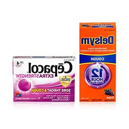Cough Relief Bundle: Delsym Adult 12 Hr Cough Relief Liquid,
