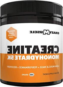 Creatine Monohydrate Powder - Proven Muscle Builder - 300g