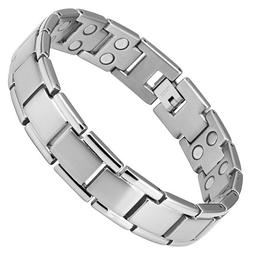 Double Strength Titanium Magnetic Therapy Extra Long Bracele