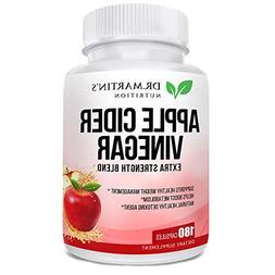 Pure 1950mg Apple Cider Vinegar 180 Capsules Supplement Extr