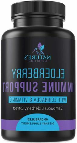 Elderberry Extra Strength 1120mg Immune System Support Suppl