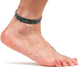 Elegant Titanium Magnetic Therapy Anklet For Men and Women A