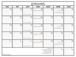 Delane Large Erasable Wall Calendar Planner, 36 x 48 Inch Er