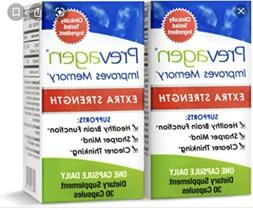 2  BOTTLES PREVAGEN EXTRA STRENGTH -IMPROVES MEMORY  30 CAPS