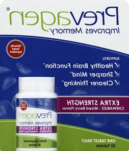 Prevagen Extra Strength 20mg Chewable Berry 30ct Bottle Bran