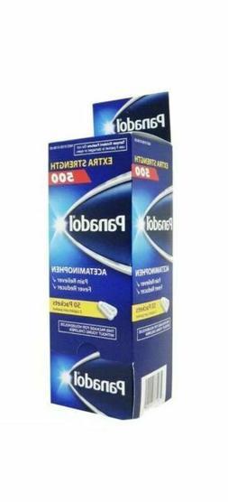 Panadol Extra Strength 500 Acetaminophen Caplets, 50 pks of