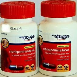 Equate Extra Strength 500 mg Acetaminophen Pain Relief 2PK x