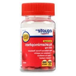 Equate Extra Strength Acetaminophen 500 mg 100 Coated Tablet