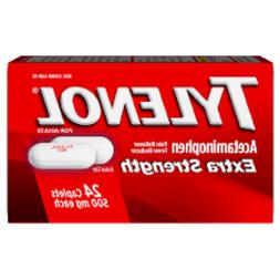 TYLENOL Extra Strength Acetaminophen 500 mg 24 ct Exp 09/202