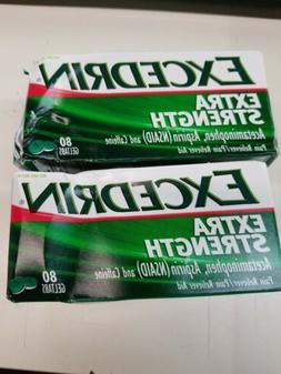 EXCEDRIN EXTRA STRENGTH ACETAMINOPHEN ASPIRIN CAFFEINE 80 GE