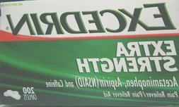 Excedrin extra strength acetaminophen asprin caffeine 200 ca