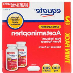 Equate Extra Strength Acetaminophen Pain 500mg 200 ct FREE S
