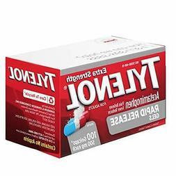 Tylenol Extra Strength Acetaminophen Rapid Release Gels & Fe