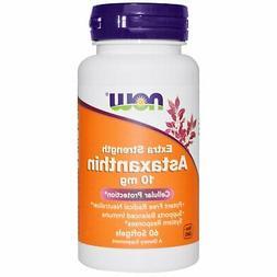 NOW Astaxanthin Extra Strength 10 mg,60 Softgel