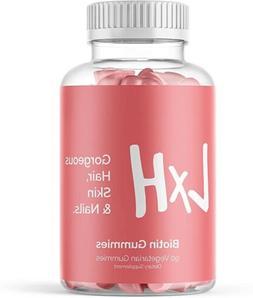 LxH Extra Strength Biotin Gummies-Hair Skin & Nails-Energy &