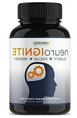 Extra Strength Brain Supplement for Focus, Energy, Memory &