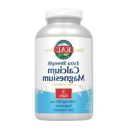 KAL Extra Strength Calcium Magnesium | 1000mg/500mg | Health