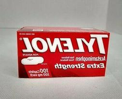 Tylenol Extra Strength Caplets Fever Reducer Pain Reliever 5