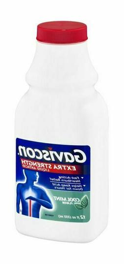 Gaviscon Extra Strength Cool Mint Flavored Antacid Liquid -