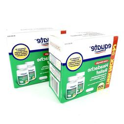 Equate Extra-Strength FAST Headache Relief Caplets 2 BOXES T