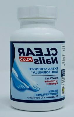 Clear Nails Plus Extra Strength Formula Toenail Fingernail F