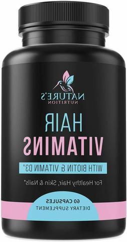 Extra Strength Hair Multivitamin Biotin, Vitamin D, Vitamin