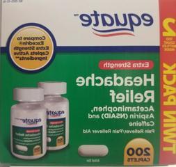 Equate Extra-Strength Headache Relief 200 Tabs, Acetaminophe
