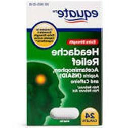 Equate Extra Strength Headache Relief, 24 Caplets Exp 10/201