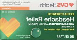 CVS extra Strength Headache Relief 80 Geltabs 1/21 OPEN BOX