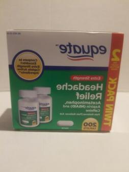 Equate Extra-Strength Headache Relief Caplets, 200 Caplets