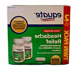 Equate Extra Strength Headache Relief Compare To Excedrin, 2