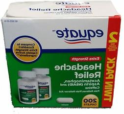 Equate Extra Strength Headache Relief, Compared to Excedrin
