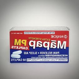 Extra Strength MAPAP PM Pain Reliever & Sleep Aid  - 50ct