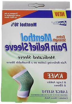 Extra Strength Menthol Pain Relief Knee Sleeve Bulk Case of