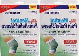 2 Pk. Coralite Extra Strength Menthol Pain Relief Large Slee