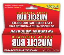 Budpak Extra Strength Muscle Rub - 1.25 oz. Tube, Pack of 3