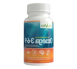 VitaVita Extra Strength Omega 3-6-9 Fish Oil, 2000MG Per Ser