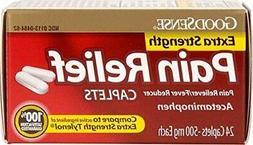 Good Sense Extra Strength Pain Relief Caplets 500 mg- 24 Ct